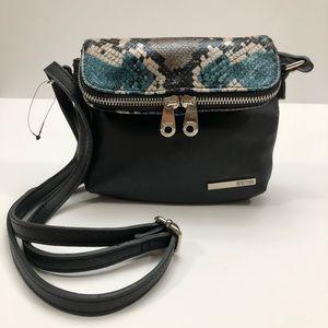 NEW Kenneth Cole Reaction Snakeskin Crossbody Bag